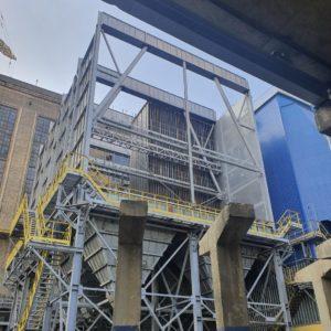 Інформуємо про хід будівництва електрофільтру для котлоагрегату ст. №7